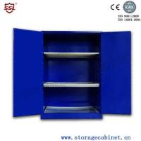Cheap Blue Chemical Liquid Sulfuric Corrosive Storage Cabinet With 2 Doors for sale