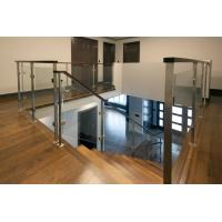 Cheap Deck Glass Railing/ Balcony Glass Balustrade Interior Staircase Railing Design for sale