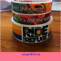 Cheap new design wide hot silicone bracelet band with CMYK printing for sale