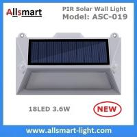 Buy cheap Solar Wall Lights 18 LED Solar Fence Lights Solar Garden Lights Decorative Double PIR Motion Sensor Solar Fence Lamp from wholesalers