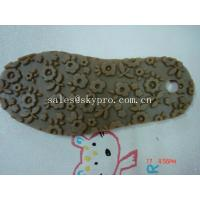 China Professional TPR rubber outsole Shoe Sole Rubber Sheet , flower pattern on sale