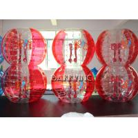 Cheap Outdoor Inflatable Kids Toys 1.8M TPU Material Half Blue Bubble Ball / Red Bubble Balls for sale