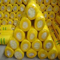 Cheap Glass wool blanket with Aluminium foil with Yellow PE thermal shrinkage packing for sale