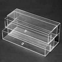Cheap 2-tier Acrylic Jewelry Box, Customized Designs are Accepted, Various Sizes are Available for sale