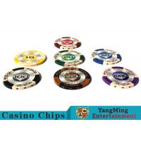 14g Custom Clay Poker Chips With Mette Sticker 3.4mm Thickness