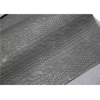 Cheap Carbon Black PU Washed Leather Handfeeling No Fading For Clothing Fabric for sale