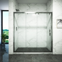 Cheap Hinged Bifold explosion proof Glass Shower Door for sale