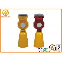 Solar Powered Traffic Warning Lights , Construction Site Portable Traffic Light
