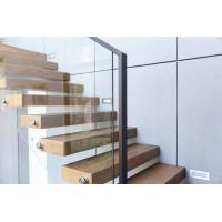 Quality Clear glass railing floating stair wholesale