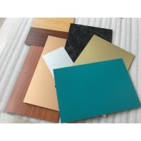 Quality Black PVDF Paint ACM Wall Panels , Lightweight Aluminum Metal Cladding Material wholesale