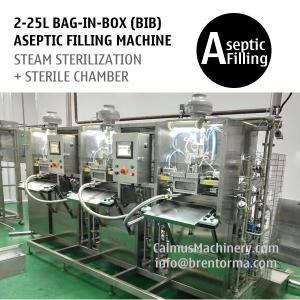 Cheap Non-backflow BIB Bag Filler 3-head Bag in Box Aseptic Filling Machine for sale