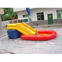 Cheap children inflatable pool with slide for sale
