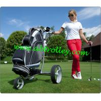 China Stainless steel remote golf trolley on sale