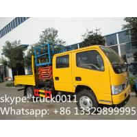 Cheap Dongfeng XBW Scissor type truck with bucket lift, 2019s new manufactured high altitude operation truck for sale for sale