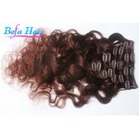Cheap Cherry Red / Burgundy Body Wave Remy Clip In Hair Extension 30 Inch For Women wholesale