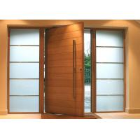 Cheap Solid Wood Modern Pivot Front Doors for sale