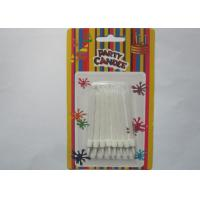 Cheap White Flameless Spiral Birthday Candles White Cake Decoration With Holders for sale