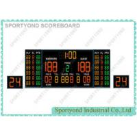 Cheap Magnetic Indoor Game Electronic Basketball Scoreboard with Double 24s Shot Clocks and Time Display for sale
