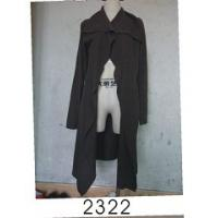 Cheap Black Wool / Acylic Womens Knitted Long Cardigan With Nice Design For Autumn for sale