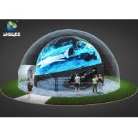 Cheap 360 Mmersive Projection Dome Movie Theater With 16 4D Cinema Chairs Built On The Playground for sale