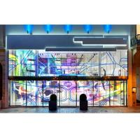 Cheap Full Color Indoor Transparency LED Display, 5500Nits SMD LED Screen For Window Advertising for sale