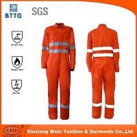 Cheap YSETEX EN certificated orange fire retardant reflective coverall for sale