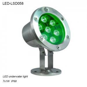 Cheap 7W exterior IP68 waterproof IP68 LED Underwater lighting in pool for sale