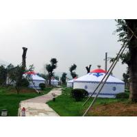 Cheap Luxury White Traditional Mongolian Yurt Tent Aluminum And Bamboo Structural wholesale