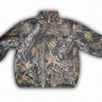 Cheap Hunting Jacket with 100% Polyester Knitted Brush Tricot and TPU 1000/1000 Shell for sale