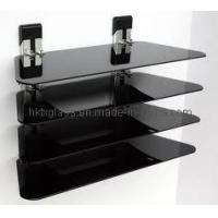Buy cheap Black Painted Glass DVD Rack (BDR-090) from wholesalers