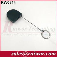 Cheap 2.8x2.8x0.8Cm Box Ipad Retractable Security CableWith Demountable Key Ring for sale