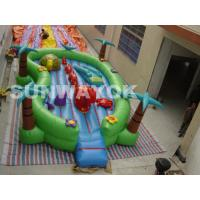 Cheap Giant commercial Inflatable Fun City Jungle , cartoon inflatable play park For Kids for sale