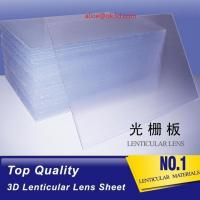 Cheap OK3D high quality PS 40LPI board 120x240cm, 3.95mm lenticular sheet for 3d and flip lenticular effect by injekt print for sale