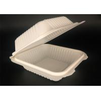 Cheap biodegradable compostable food container box microwave safe cornstarch  container for sale