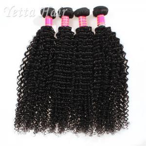 Kinky Curly Burmese Virgin Hair Bundles , No Tangle Real Wavy Hair