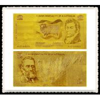 Cheap Australia Old AUD 2 AUD Gold Banknote Engraved 99.9% 24K Gold Leaf For Home Decoration for sale