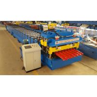 China Automatic Glazed Tile Roll Forming Equipment 1250 Width Step Tile Making Machine on sale