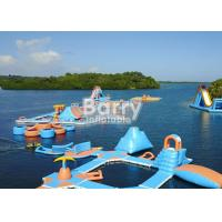 Cheap Custom Made Weld Air Sealed Open Water Inflatable Floating Island Park for sale