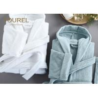 Cheap Personal Fashionable Hotel Quality Bathrobes Ladies Waffle Short Cotton Robe for sale