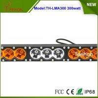 Cheap Super bright 300w dual color single row offroad led bar in thick diecast aluminum housing for sale