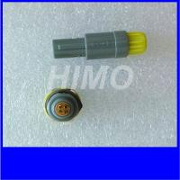 Cheap self-latching lemo 6pin Medical Plastic Circular Connectors Redel 1P Size straight plug and receptacle for sale