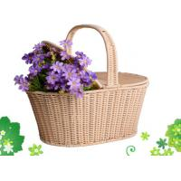 China Plastic Rattan Picnic Basket on sale