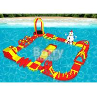 Quality Multiple Combinations Inflatable Water Park , Inflatable Aqua Sport Water Game wholesale