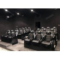 Cheap Aesthetic Genuine Leather Mobile 5D Cinema Three Seats In A Set For Amusement Park for sale