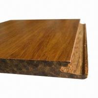 China Bamboo Flooring with 3 Layer Horizontal Construction, Available in T/G or Click System on sale