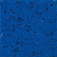 China Crystal Light Blue artificial quartz stone worktops / Polished quartz kitchen counter tops on sale