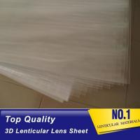 Cheap 100lpi 0.58mm PET lenticular sheet  lens plastic film lenticular printing sheet lenticular sheet importer in usa for sale