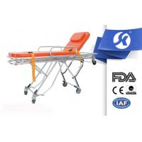 Cheap Back Adjustable Patient Stretcher Trolley , Medical Room Equipment Patient Transfer Trolley for sale