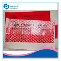 Cheap Colored Tamper Proof Bag Sealing Tape , Custom Shipping Security Seal Tape for sale