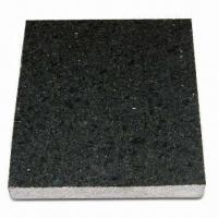 Cheap Mongolia Black Granite Tiles for Vanity Top/Bathroom Sink, ±1 to 1.5mm Thickness Tolerance for sale